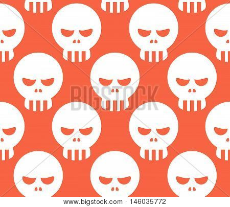 Seamless Human Head Skull Pattern