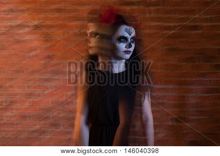 Young Woman With Creative Visage.