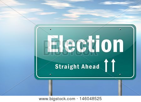 Highway Signpost with Election wording. Election time concept