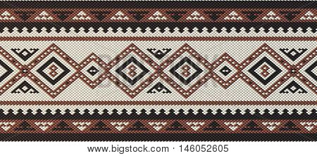 Detailed Maroon Traditional Folk Sadu Arabian Hand Weaving Pattern