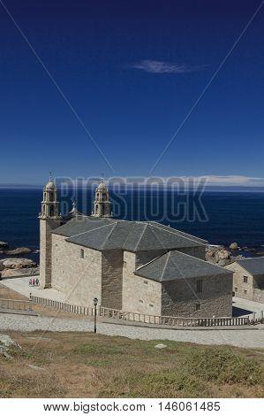 Spain Galicia Muxia Virxe de la Barca Sanctuary on Atlantic coast