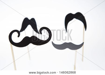 Moustaches On A White Background