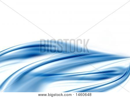 blue background abstract composition with flowing design poster