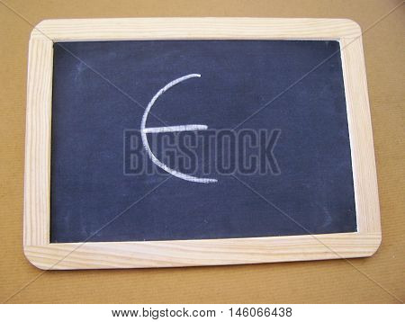 Slate used by students in the preparatory work - letter E
