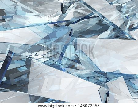 Abstract blue glass background