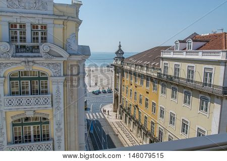 Lisbon. Portugal. 11 of august 2016 View from the Pestana CR7 new Hotel in Lisbon Rua do Comercio 54 Lisbon Portugal. photography by Ricardo Rocha.