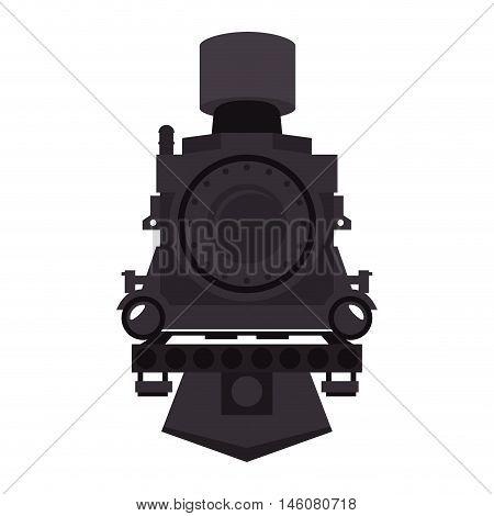 steam locomotive rail transport vehicle vector illustration