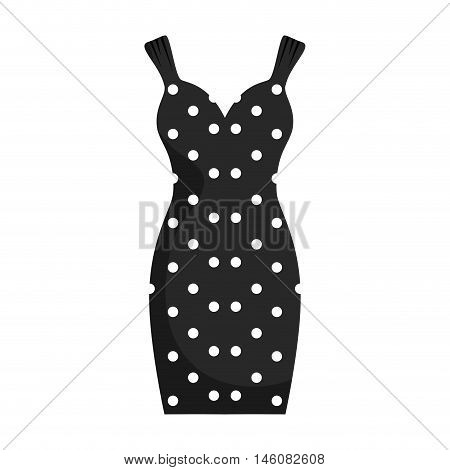 black dress. sewing garment fashion clothing. Vector illustration
