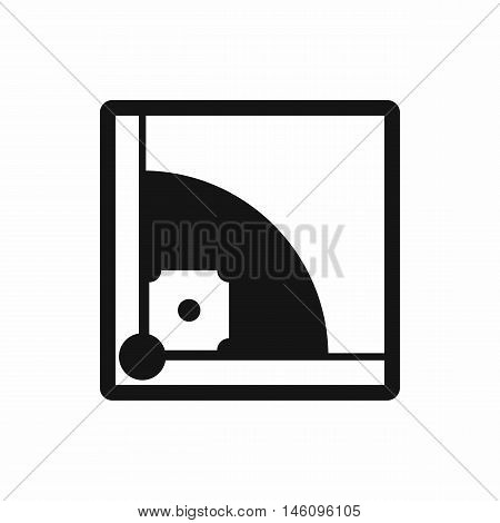Baseball field icon in simple style on a white background vector illustration