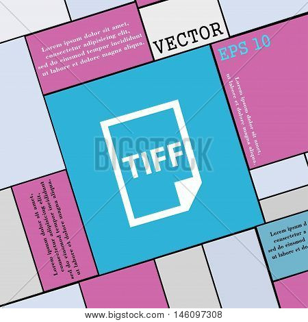Tiff Icon. Sign. Modern Flat Style For Your Design. Vector
