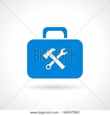 Tools chest icon vector illustration isolated on white background