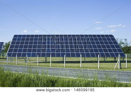 Photovoltaic Solar Power Plant in the Field