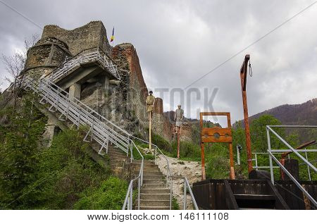 Poenari Fortress is Vlad Tepes castle prince of medieval Wallachia modern Romania