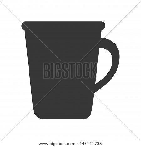 coffee mug beverage caffeine drink silhouette vector illustration