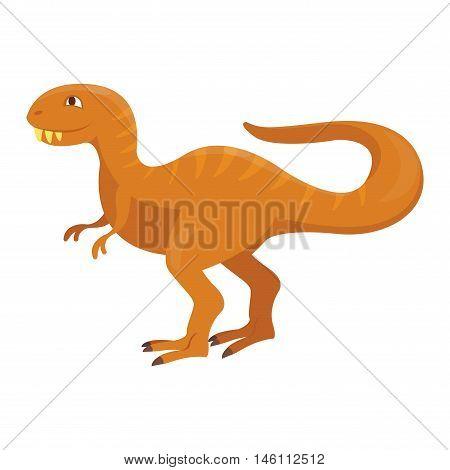 Dinosaur cartoon vector illustration. Cartoon dinosaurs cute monster funny animal and prehistoric character cartoon dinosaur. Cartoon comic fantasy dinosaur reptile