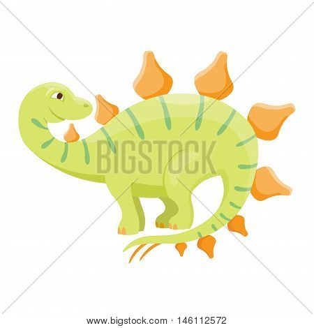 Dinosaur spinosaurus cartoon vector illustration. Cartoon dinosaurs cute monster funny animal and prehistoric character spinosaurus cartoon dinosaur. Cartoon comic fantasy spinosaurus dinosaur reptile