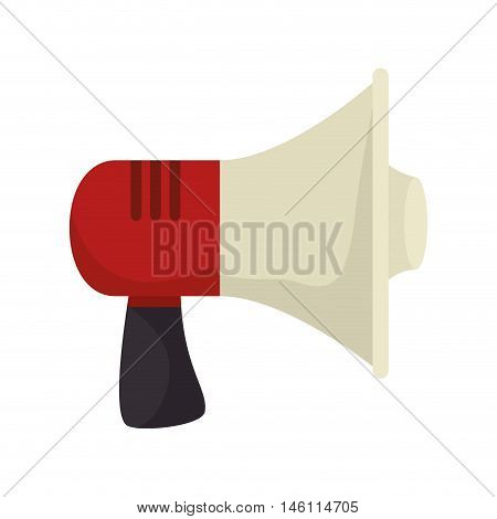 megaphone loud speaker audio and technology device. vector illustration