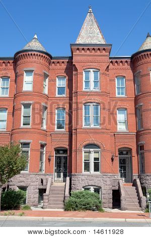 Richardsonian Romanesque Brick Row Home Washington