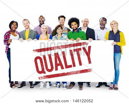 Quality Standard Value Worth Level Class Grade Concept