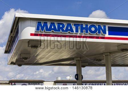 Indianapolis: Circa September 2016: Marathon Petroleum Retail Gas Station. Marathon Petroleum Refines and Markets Oil Products II