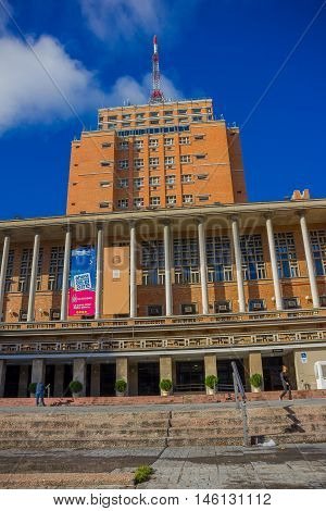 MONTEVIDEO, URUGUAY - MAY 04, 2016: the city hall is the seat of the local government in montevideo.