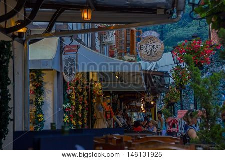 BLUMENAU, BRAZIL - MAY 10, 2016: the city is famous because of his german style city center and the name is in honor to its founder the Dr. hermann blumenau.