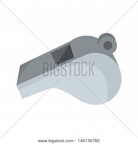 referee whistle american football. sport equipment. vector illustration