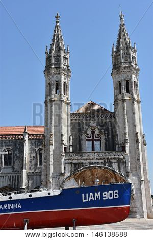 LISBON, PORTUGAL - AUG 23: Navy Museum (Museu de Marinha) in Lisbon, Portugal, as seen on Aug 23, 2016. It is dedicated to all aspects of the history of navigation in Portugal.