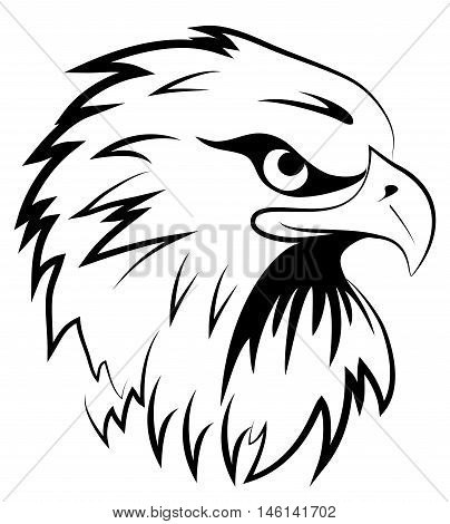 Fighting hawk raptor falcon mascot eagle icon