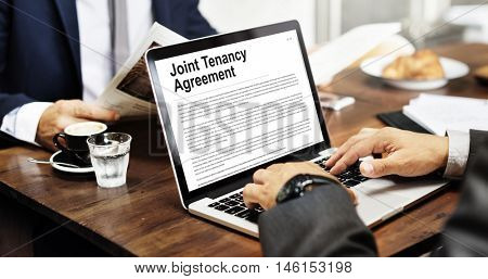Joint Tenancy Agreement Property Renting Estate Concept