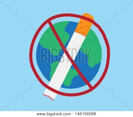 world no tobacco day 31 may vector illustration