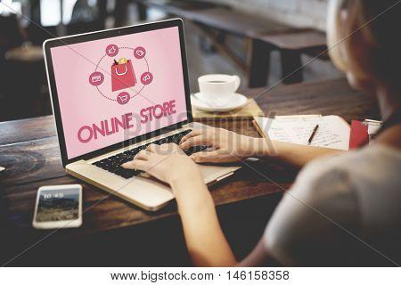 Shopping Online Buy Sale Shophoslics Concept