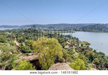 View of Lake Victoria and Mwanza Tanzania