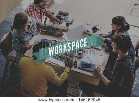Workspace Workplace Office Building Workroom Concept