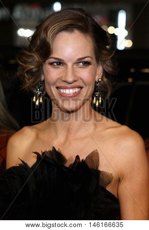 Hilary Swank at the World premiere of 'P.S. I Love You' held at the Grauman's Chinese Theater in Hollywood, USA on December 9, 2007.
