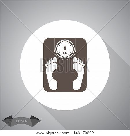 Weighing Machine  Vector icon for web and mobile