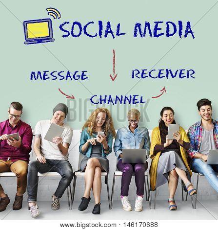Social Media Channel Connectivity Concept