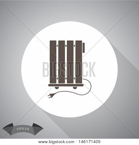 Heater  Vector icon for web and mobile