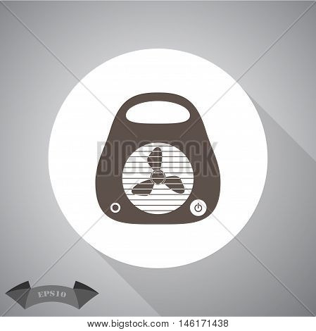 heater flat  Vector icon for web and mobile