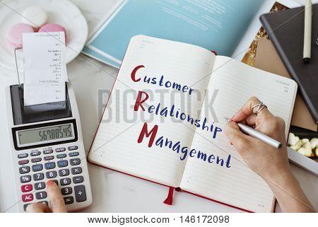 Business Customer Relationship Management Concept