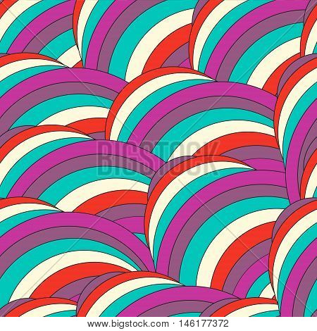 Abstract trendy geometric seamless pattern design. Vector modern wave repetitive print best for apparel wrapping paper clothing etc. Hpster rainbow background poster