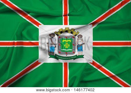 Waving Flag Of Goiania, Goias State, Brazil
