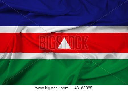 Waving Flag Of Juiz De Fora, Brazil