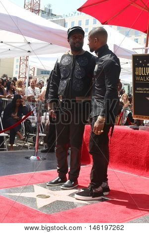 LOS ANGELES - SEP 7:  will.i.am, Usher Raymond at the Usher Honored With a Star On The Hollywood Walk Of Fame at the Eastown on September 7, 2016 in Los Angeles, CA