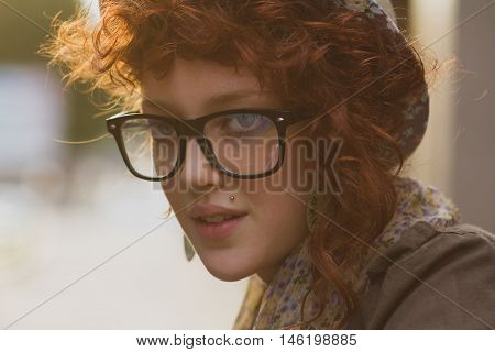 Portrait Of Trendy Young Girl
