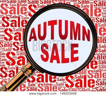 Autumn Sale Represents Commerce Sales 3D Rendering