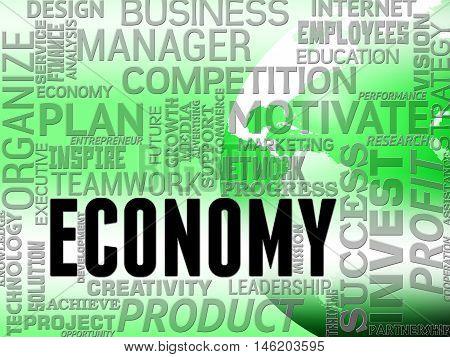Economy Words Means Macro Economics And Finance
