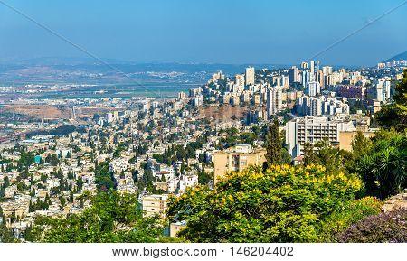Panorama of Haifa from Mount Carmel - Israel