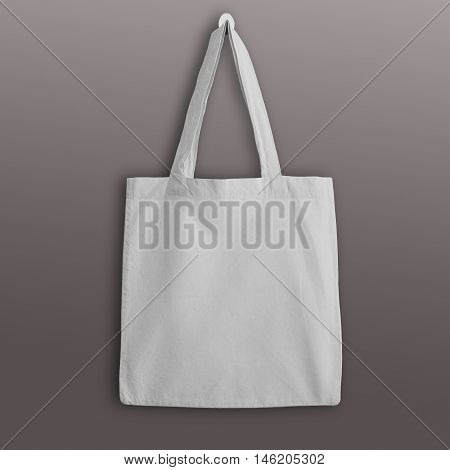 White blank cotton eco tote bag design mockup. Handmade shopping bags.