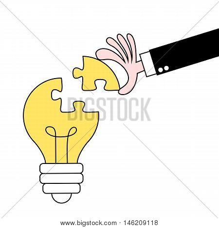 Creating an idea conceptual vector illustration design